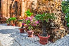 Po Ngar Cham πύργοι σε Nha Trang, Βιετνάμ Στοκ Φωτογραφίες