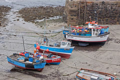 Połowów naczynia na piasku Fotografia Royalty Free