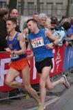 połowa maratonów biegacze Obrazy Royalty Free