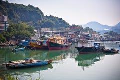 połowu Hong kong wioska Zdjęcia Stock
