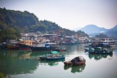 połowu Hong kong wioska Obrazy Stock