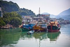 połowu Hong kong wioska Obraz Stock