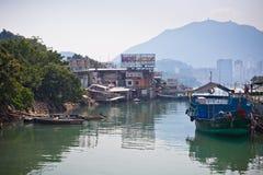 połowu Hong kong wioska Zdjęcie Royalty Free