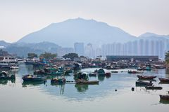 połowu Hong kong wioska Obrazy Royalty Free