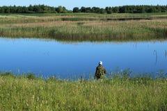 połowu jezioro Obraz Stock