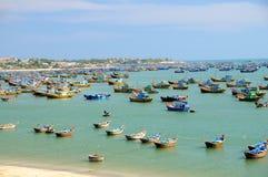 połowu mui ne Vietnam wioska Obrazy Royalty Free