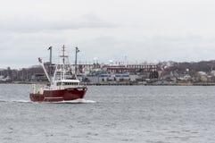 Połowu naczynia Concordia linii brzegowej przelotne fabryki Zdjęcie Stock