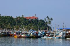Połowu port Matara w Sri Lanka zdjęcie royalty free