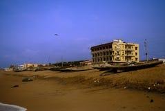 Połowu schronienie przy Puri, India zdjęcie stock