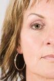 połowy twarzy kobiety Zdjęcie Stock