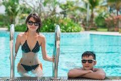 Po pływać w basenie Zdjęcie Royalty Free