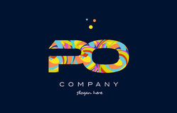 Po p o colorful alphabet letter logo icon template vector Royalty Free Stock Photography