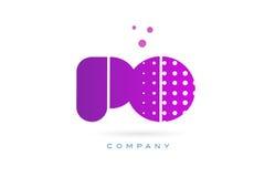 Po p o pink dots letter logo alphabet icon Stock Photos