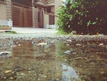 Po podeszczowej wody gruntowej zdjęcie royalty free