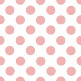 Po prostu wektorowy bezszwowy wzór światło - menchii róży okręgi na białym tle zdjęcie stock