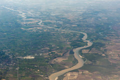 Po river aerial view Royalty Free Stock Images