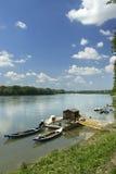 Po river. Casalmaggiore Cr,Italy, the river Po Stock Photos