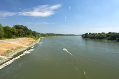 Po river. Cremona, Italy, the Po River Stock Photo
