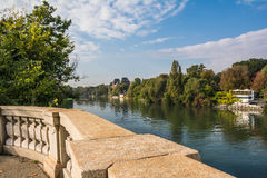 The Po river in Turin Royalty Free Stock Image