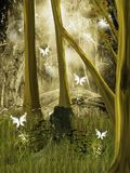 Po środku lasu tajny miejsce ilustracja wektor