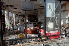 Po Superstorm dogodności złupiony stor Sandy Zdjęcia Royalty Free