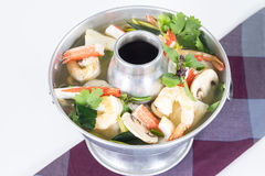 Po-Tak Spicy Sour Seafood Soup contains shrimp Stock Photos
