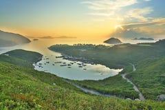 Po Toi Ο από την υψηλότερη προοπτική, Sai Kung Στοκ Φωτογραφίες