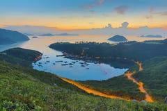 Po Toi Ο από την υψηλότερη προοπτική, Sai Kung Στοκ εικόνα με δικαίωμα ελεύθερης χρήσης