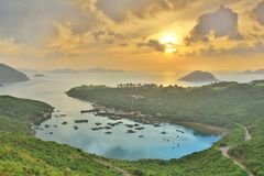Po Toi Ο στο πρωί, Χονγκ Κονγκ Στοκ Φωτογραφία