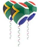 Południe - afrykanin flaga balon Obraz Royalty Free