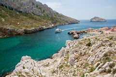 Południe Francja, statek wycieczka turysyczna Fotografia Royalty Free