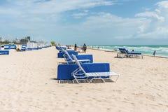 Po?udnie pla?a w Miami, Floryda, usa Wakacje w raju zdjęcia stock