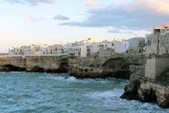 Południowa Adriatycka linia brzegowa Zdjęcia Royalty Free