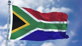 Południowa Afryka flaga w niebieskim niebie Obrazy Royalty Free