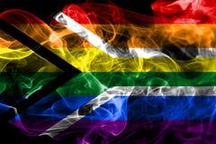 Południowa Afryka homoseksualisty dymu flaga Zdjęcia Royalty Free