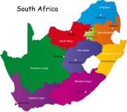 Południowa Afryka mapa Zdjęcia Stock
