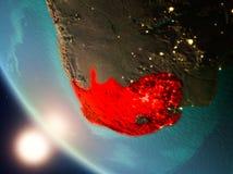 Południowa Afryka podczas zmierzchu na ziemi Zdjęcia Stock