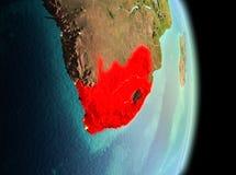 Południowa Afryka w ranku od orbity Zdjęcia Royalty Free