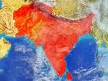 Południowa Azja na ziemi od przestrzeni royalty ilustracja