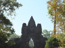 Południowa brama Angkor Thom, Angkor Zdjęcie Royalty Free