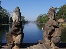 Południowa brama Angkor Thom, Angkor Obraz Stock