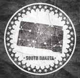 Po?udniowa Dakota stanu mapa zdjęcie stock