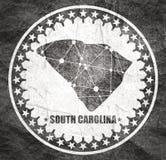 Po?udniowa Karolina stanu mapa ilustracji