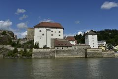 Południowa Strona Veste Niederhaus, Passau, Bavaria, Niemcy Fotografia Stock