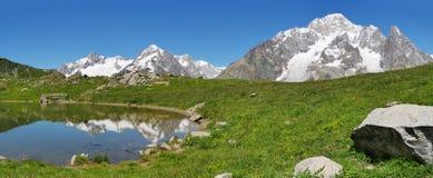 Południowa twarz Mont Blanc Fotografia Royalty Free