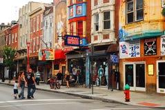 Południowa ulica, Filadelfia Zdjęcia Stock