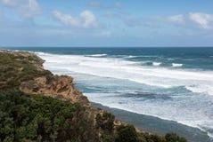 Południowa Wiktoria linia brzegowa, Australia Zdjęcia Stock
