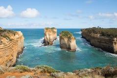 Południowa Wiktoria linia brzegowa, Australia Zdjęcie Stock