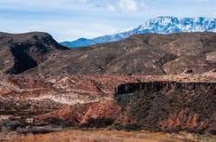 Południowe Utah pustyni góry warstwy Zdjęcia Royalty Free