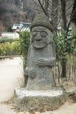 Południowego Korea Jeju kamienia harubang fotografia stock